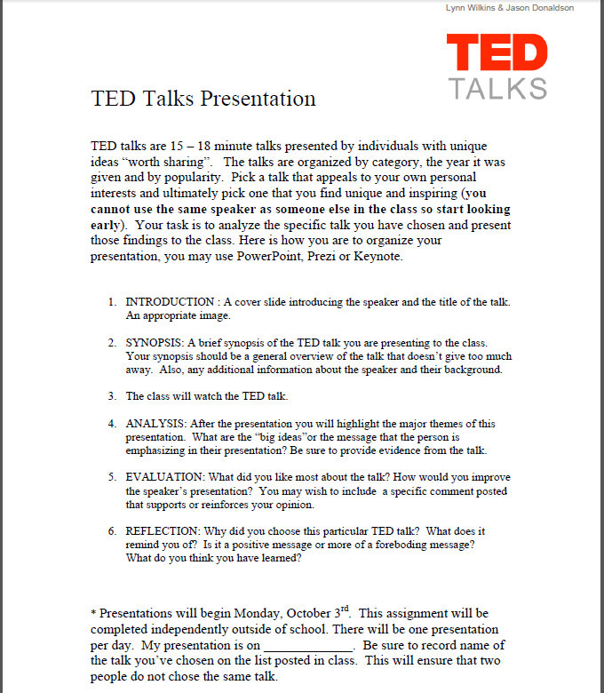 Ted talk assignment